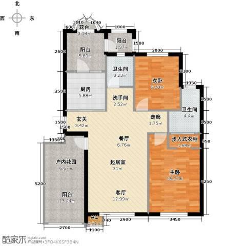 易和岭秀滨城2室0厅2卫1厨130.00㎡户型图