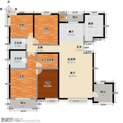 曲江风景线4室0厅2卫1厨220.00㎡户型图
