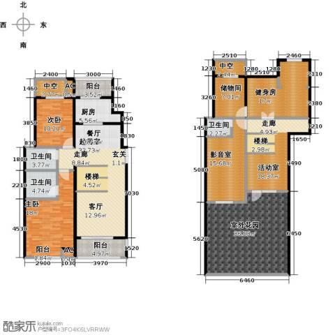 曲江风景线2室0厅3卫1厨265.00㎡户型图