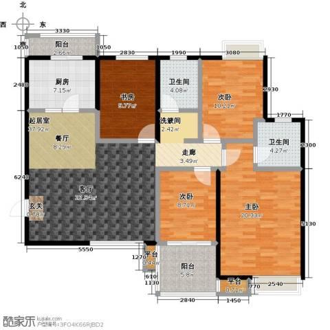 中锐隽苑4室0厅2卫1厨139.00㎡户型图