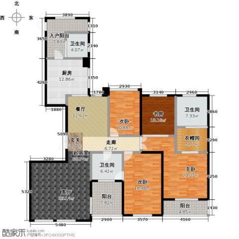 天安曼哈顿4室0厅3卫1厨188.00㎡户型图