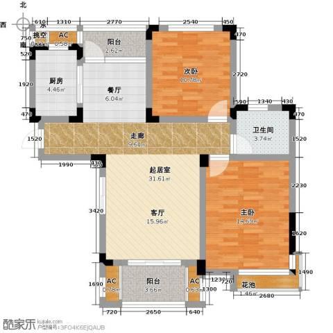 橘郡2室0厅1卫1厨87.00㎡户型图