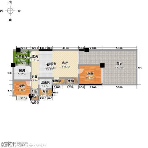 半山午后2室0厅1卫1厨104.97㎡户型图