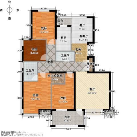 香格里4室1厅2卫1厨143.84㎡户型图