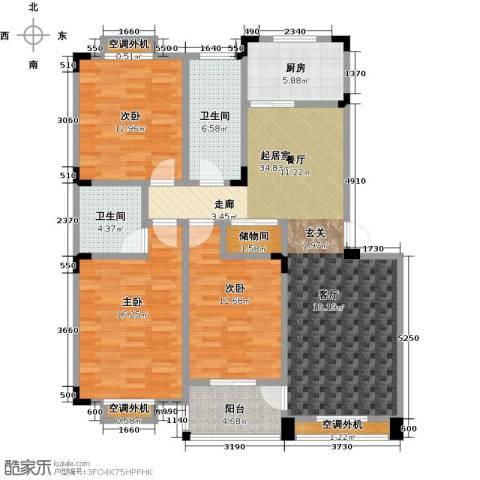 丽�花园3室0厅2卫1厨124.00㎡户型图