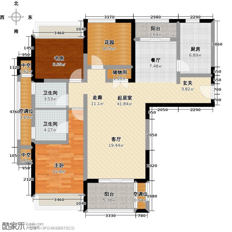 莱蒙城118.00㎡公园里A1户型2室2厅2卫