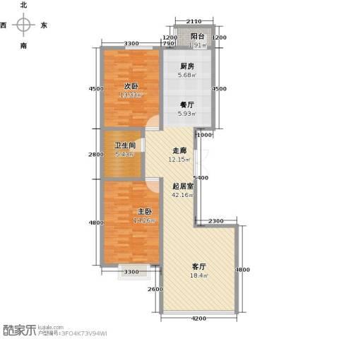 外滩九号2室0厅1卫0厨110.00㎡户型图