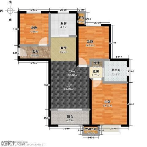 嘉利华府庄园3室0厅1卫1厨88.00㎡户型图