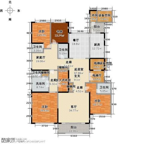中海紫御豪庭4室0厅4卫1厨290.00㎡户型图
