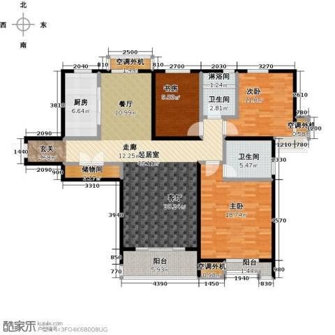国信观湖湾3室0厅2卫1厨138.00㎡户型图