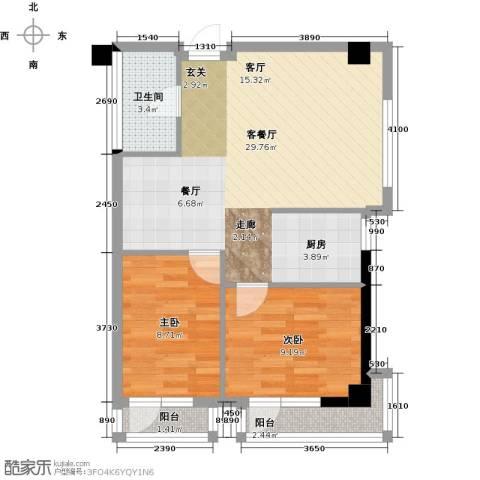 金州福佳新天地广场2室1厅1卫0厨81.00㎡户型图