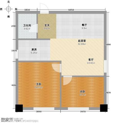 金州福佳新天地广场2室0厅1卫0厨87.00㎡户型图
