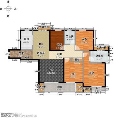 国信观湖湾4室0厅2卫1厨147.00㎡户型图