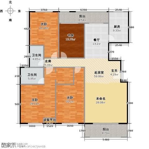 金鼎湾国际4室0厅2卫1厨184.00㎡户型图