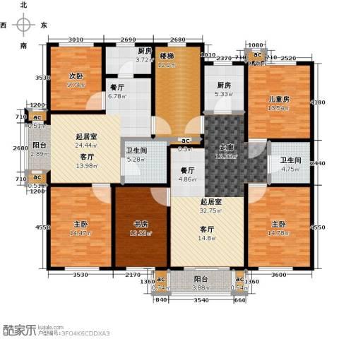 名仕雅居5室0厅2卫2厨160.17㎡户型图