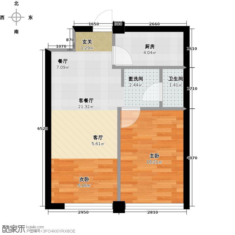 金丰大厦88.73㎡A户型2室1厅1卫1厨户型2室1厅1卫