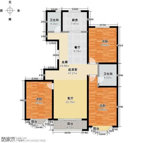 城市维也纳3室0厅2卫1厨135.00㎡户型图