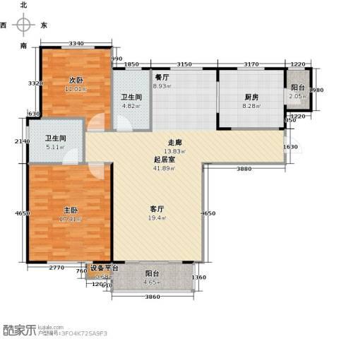 哈西万达广场2室0厅2卫1厨103.00㎡户型图