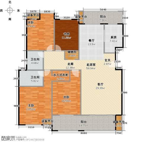 金鼎湾国际4室0厅2卫1厨182.00㎡户型图