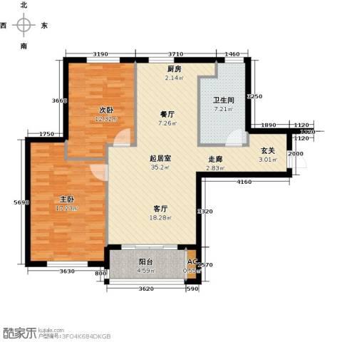 宇圣明珠2室0厅1卫0厨86.00㎡户型图