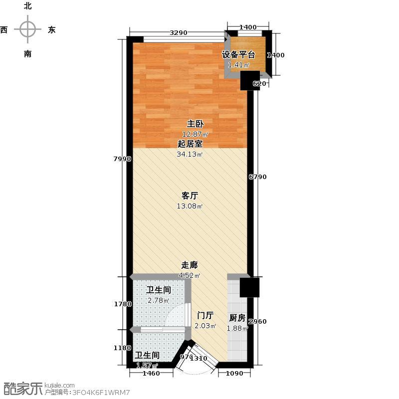 汇邦中心45.00㎡汇邦中心45.00㎡1室1厅1卫户型1室1厅1卫