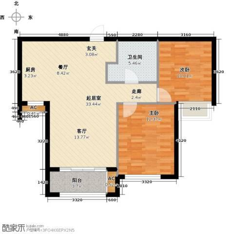 宇圣明珠2室0厅1卫0厨73.00㎡户型图