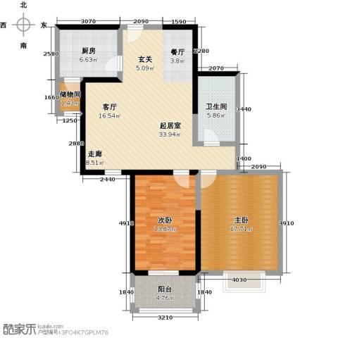 爱情公寓2室0厅1卫1厨120.00㎡户型图
