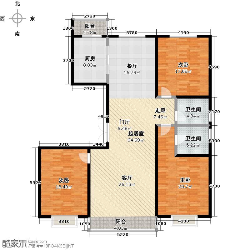 城市维也纳157.00㎡帕格尼尼B内-01户型3室2厅2卫