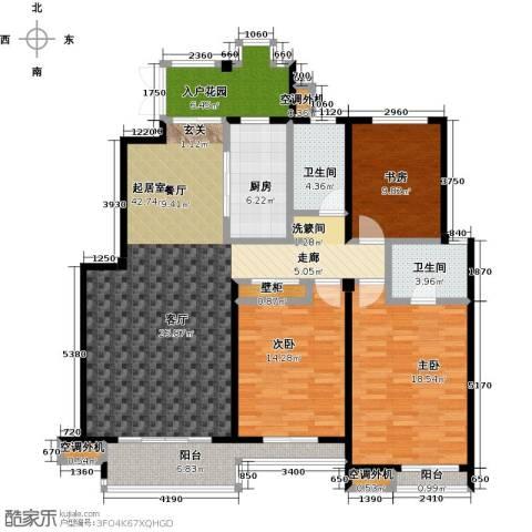 国信观湖湾3室0厅2卫1厨145.00㎡户型图