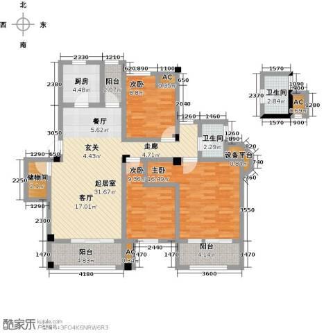 南山金城19583室0厅2卫1厨112.00㎡户型图