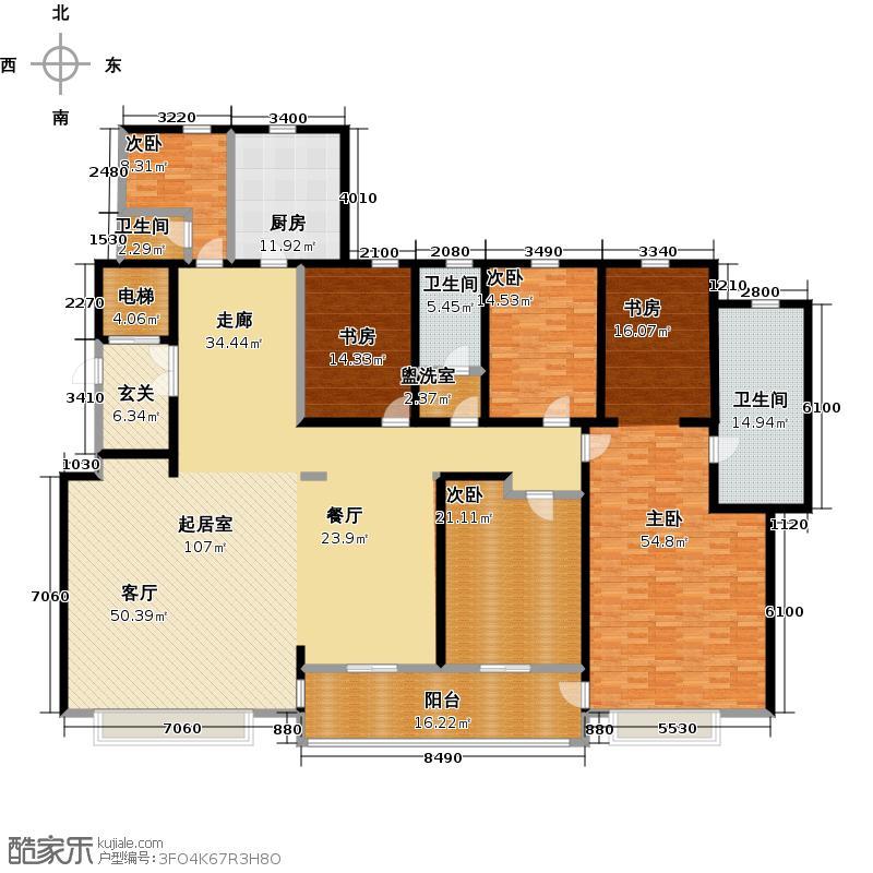 海信天玺302.00㎡23号楼B户型4室2厅2卫-T