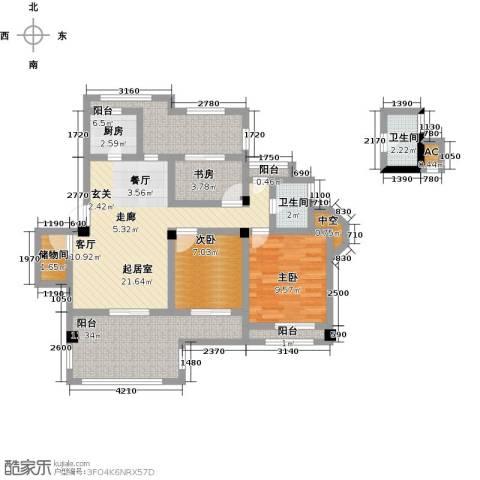 南山金城19583室0厅2卫1厨86.00㎡户型图