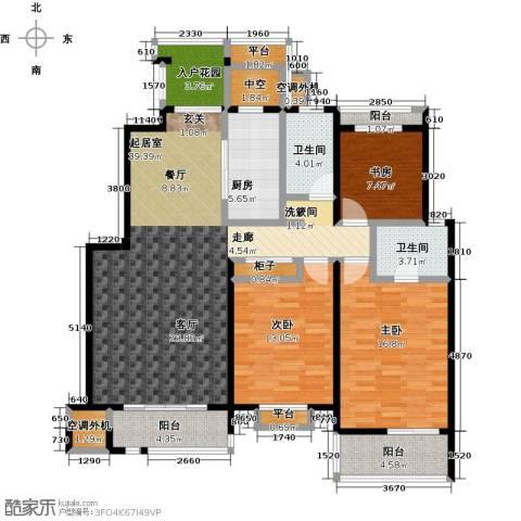 国信观湖湾3室0厅2卫1厨131.00㎡户型图