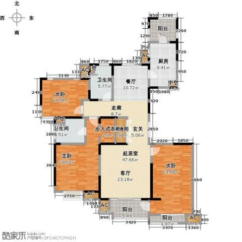 中星湖滨城四期3室0厅2卫1厨210.00㎡户型图