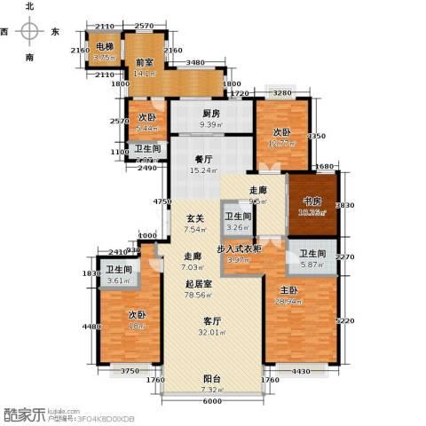 联邦・御景江山5室0厅4卫1厨262.00㎡户型图