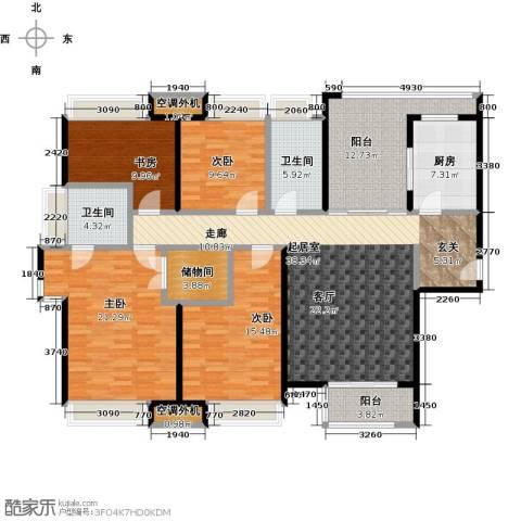 华仁凤凰城4室0厅2卫1厨164.00㎡户型图