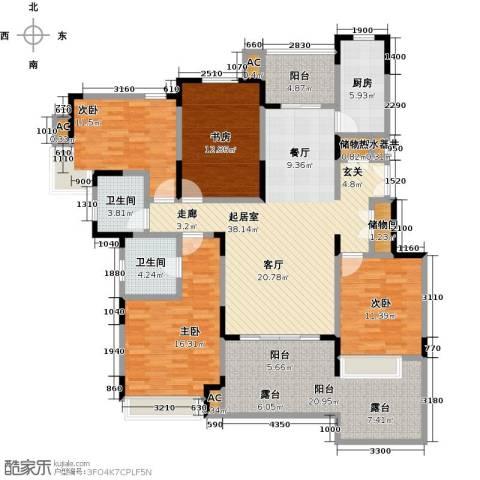 中星湖滨城四期4室0厅2卫1厨190.00㎡户型图