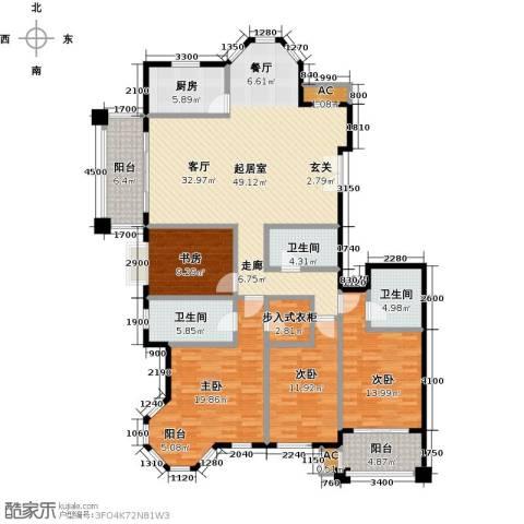 东方名城4室0厅3卫1厨200.00㎡户型图