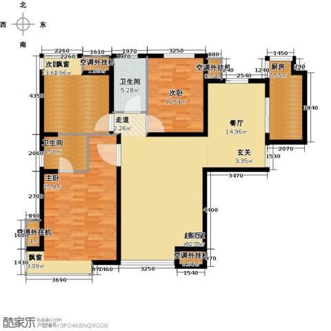 中海・御湖翰苑3室0厅2卫1厨170.00㎡户型图