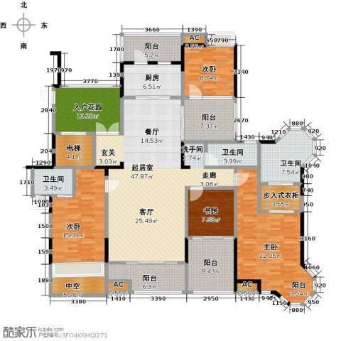 恒大晶筑城4室0厅3卫1厨192.00㎡户型图