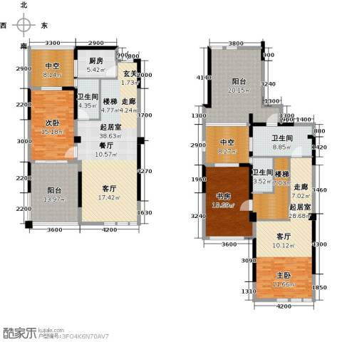 香榭里2室0厅3卫1厨177.88㎡户型图