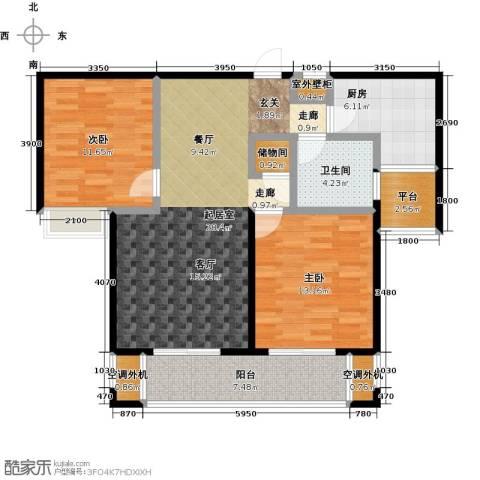 华仁凤凰城2室0厅1卫1厨101.00㎡户型图