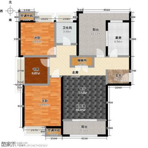 华仁凤凰城3室0厅1卫1厨116.00㎡户型图