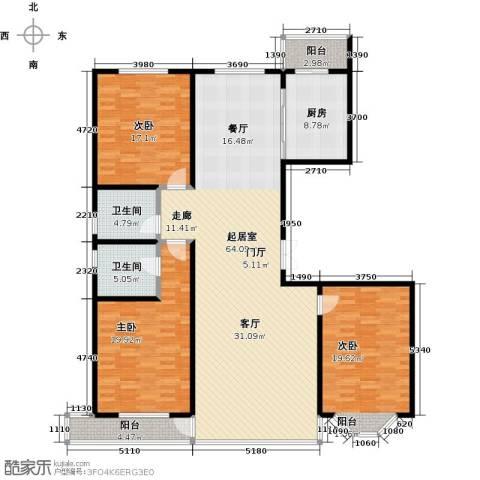 城市维也纳3室0厅2卫1厨162.00㎡户型图