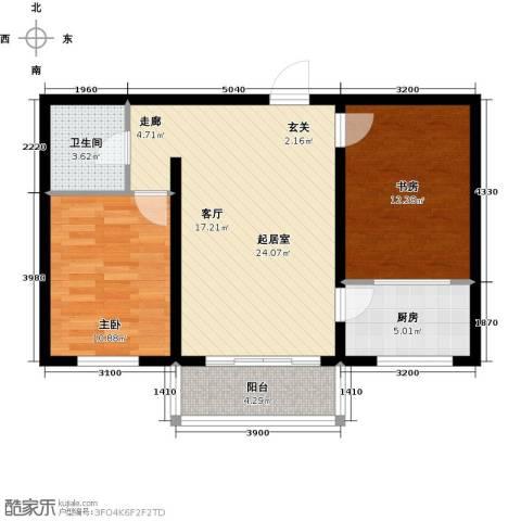 水榭花都2室0厅1卫1厨77.00㎡户型图