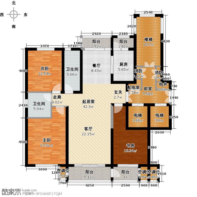 博园公寓165.00㎡C户型3室2厅2卫