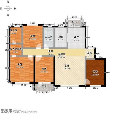 半岛印象5室0厅1卫1厨176.00㎡户型图