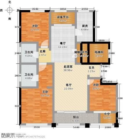 荣安心居3室0厅2卫1厨171.00㎡户型图