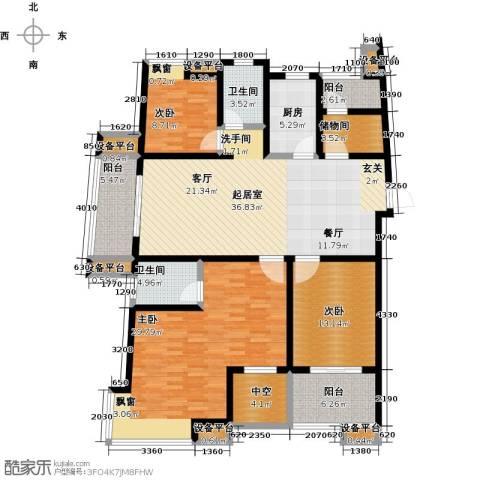 保利香槟国际3室0厅2卫1厨148.00㎡户型图