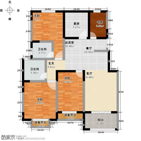聚盛花园明日星城4室0厅2卫1厨156.00㎡户型图
